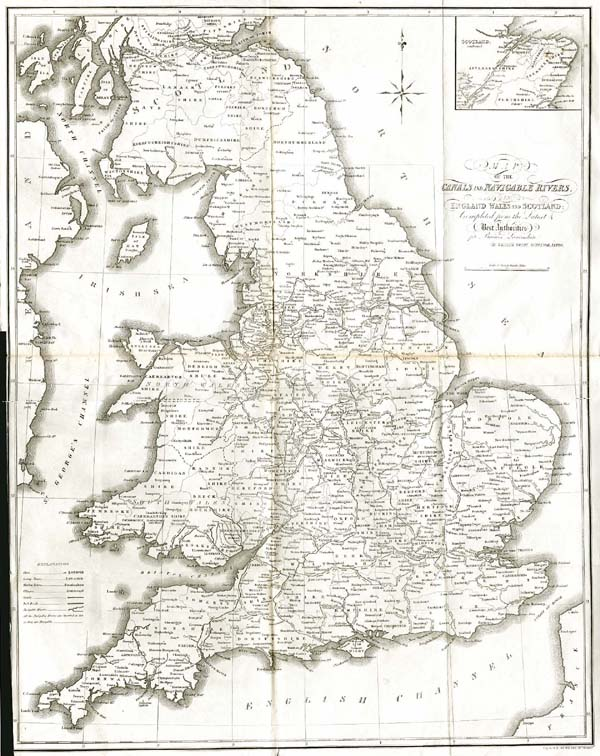 Map Of England Rivers And Canals.Enland Maps Antique Prints Maps